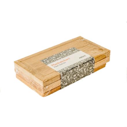 Exxent planksteksbräda med underlägg 2-pack