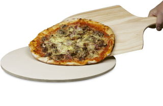 Funktion rund pizzasten med spade