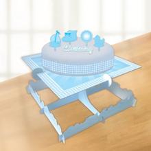 Blå tårtdekorationssats för barndopet