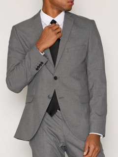 Selected Homme Slhslim-Mylologan Grey Blazer B Noo Kavajer & kostymer Grå