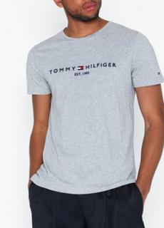 Tommy Hilfiger Tommy Logo Tee T-skjorter og singleter Cloud