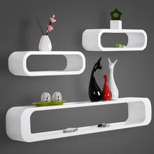 3PCs/Set Decorative Floating Shelves DIY Crafts Wall Shelf Rack for Living Room Study Kitchen Bedroom Wall Decoration Home Decor