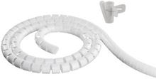Kabelspiral 25 mm hvit 2,5 m