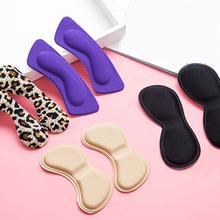 Fashion 2pcs Practical Sticky Fabric Shoes Back Heel Inserts Insoles Pads Cushion Liner Grips High Quality Braces & Supports