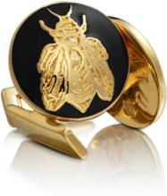 Skultuna Manschettknappar Napoleon Bee Guld Baroque Svart