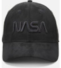 NASA 3D Embroidered Suede Cap - Schwarz