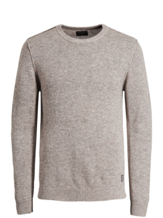 JACK & JONES Wool Knitted Pullover Men Beige