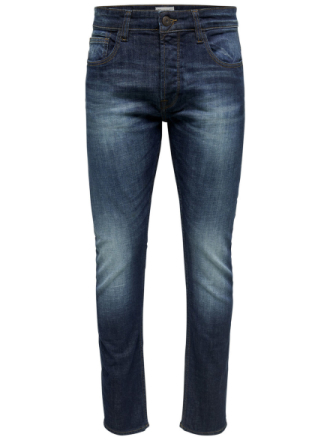 ONLY & SONS Onsweft Dark Blue Regular Fit Jeans Men Blue