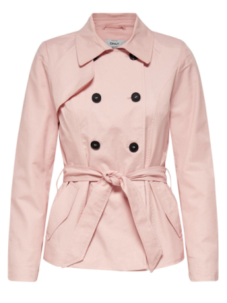 ONLY Short Trenchcoat Women Pink