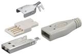 USB-kontakt för lödning USB-A. USB-kontakt med löd
