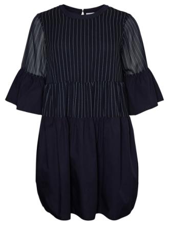 JUNAROSE Striped Dress Women Blue