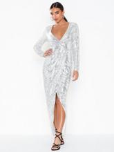 NLY Eve Sequin Wrap Gown Paljettklänningar