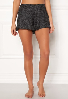 BUBBLEROOM Laila satin shorts Black / Dotted 34