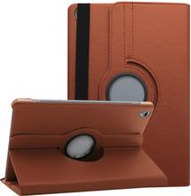 Huawei Mediapad M6 10.8 360 Graders Litchi Korn Læretui - Brun