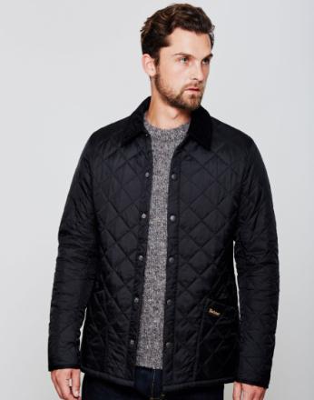 Barbour Heritage Liddesdale Quilted jakke svart