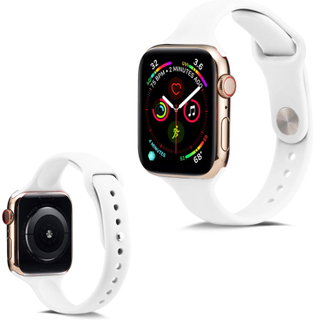 Apple Watch Series 5 44mm Enkel Silikon Klokkereim - Hvit