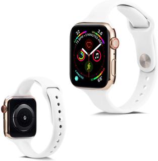 Apple Watch Series 5 44mm Enkel Silikon Klokkereim - Hvit
