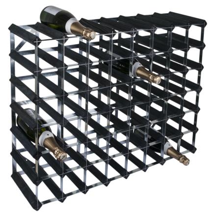 RTA Vinställ 56 flaskor svart trä