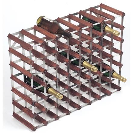 RTA Vinställ 56 flaskor brunt trä