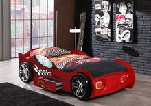 Bilseng Racer rød med skuff – 90×200