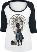 Bring Me The Horizon - Chalk Girl -T-skjorte - hvit, svart