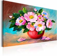 ARTGEIST Spring Bunch billede - multifarvet bomuldslærred/akrylfarver, 2 størrelser 60x40