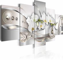 ARTGEIST Pearl Dance of Orchids billede - multifarvet print, 2 størrelser 100x50
