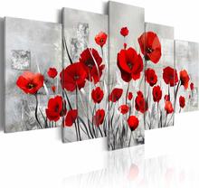 ARTGEIST Scarlet Cloud billede - grå/rød print, 2 størrelser 200x100