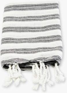 Hammam håndklæde, Hvid m sort strib
