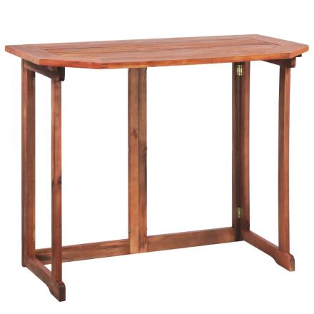 vidaXL Balkongbord massivt akaciaträ 90x50x75 cm