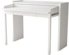 Conley skrivebord med udtræksbordplade og 1 skuffe hvid.