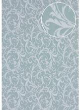Baroque wallcovering wall Atlas PRI-523-1 non-woven wallpaper smooth with floral ornaments matt grey cement-grey light-grey agate-grey