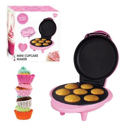 Globale gizmoer elektrisk Non-Stick 7 Mini Cupcake & Muffin Maker