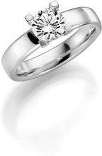Schalins Vigselring 18k Vitguld Seine 1,0 Ct Diamant