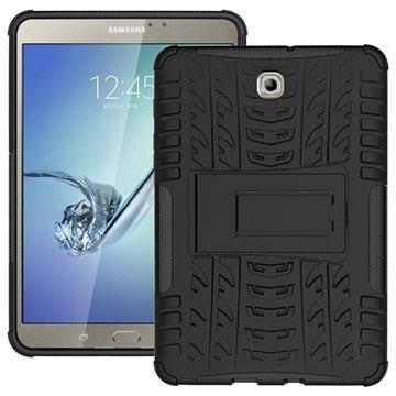 Samsung Galaxy Tab S2 8.0 T710, T715 Anti-Slip Hybrid Cover - Sort
