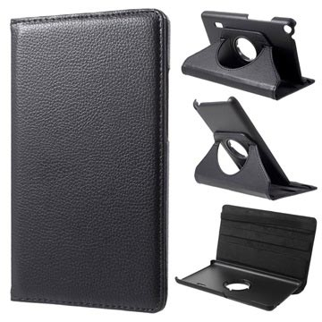 Huawei MediaPad T3 7.0 Textured Roterende Cover - Sort