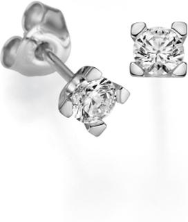 Örhängen 18k vitguld Seine 0,50 ct diamant
