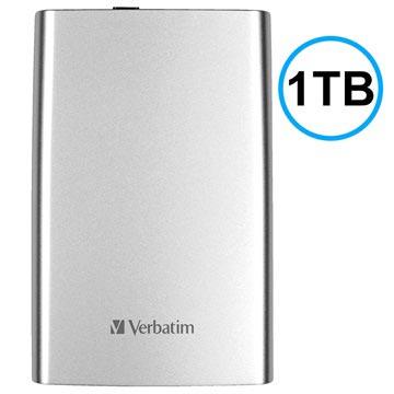 Verbatim Store 'n' Go USB 3.0 Ekstern Harddisk - Sølv - 1TB