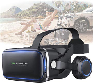 Shinecon 6 Generation G04E 3D VR Virtual Reality Briller med Høretelefoner