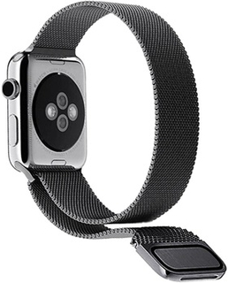 Apple Watch Series 4/3/2/1 Magnetisk Milanorem - 44mm, 42mm - Sort