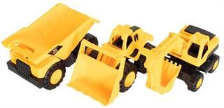 Legetøjs arbejdsbiler - 18 cm i længden - 3 forskellige maskiner