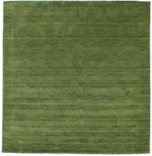 Handloom fringes - Grön matta 250x250 Modern, Kvadratisk Matta