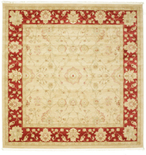 Farahan Ziegler - Beige / Röd matta 250x250 Orientalisk, Kvadratisk Matta