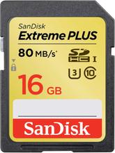 SANDISK Minneskort SDHC Extreme Elite Plus 16GB