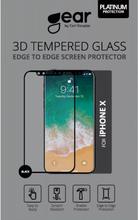 Gear by Carl Douglas GEAR Härdat Glas 3D iPhoneX Edge to Edge Svart