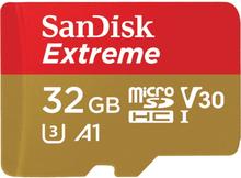 SANDISK Minneskort MicroSDHC Extreme 32GB+Adap Rescue Pro De