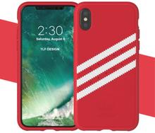 ADIDAS konstLäderbelagd TPU Skal till iPhone X - Röd