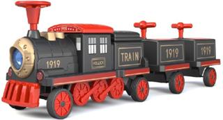 EL Tog med lokomotiv og 2 vogne til Børn 12V (op til 4 børn)