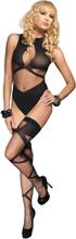 Leg Avenue - Bodystocking med spets & matchande strumpor