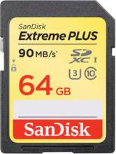 SanDisk Minneskort SDXC Extreme Plus 64GB 90MB/s UHS-I